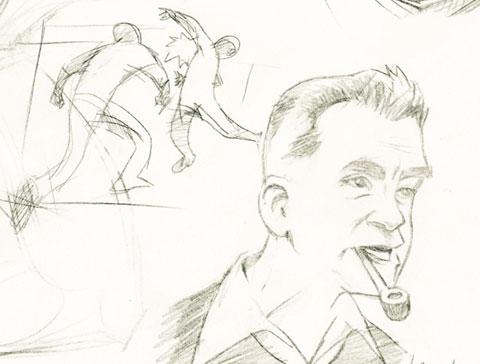 Jack Kirby sketch